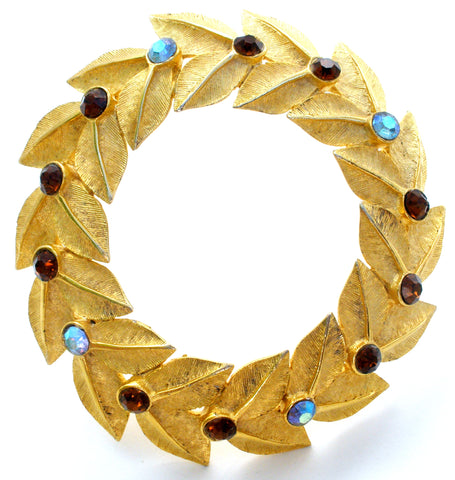 Hattie Carnegie Wreath Brooch Vintage