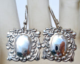 Vintage Spoon Style Dangle Earrings 925 - The Jewelry Lady's Store