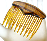 Vintage Brown Hair Comb - The Jewelry Lady's Store