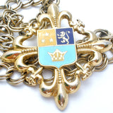 Vintage Coat of Arms Shield Medallion Necklace - The Jewelry Lady's Store