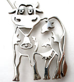 Vintage Cow Brooch Pin by Frank Chavez - The Jewelry Lady's Store