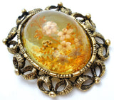 Vintage Lucite Flower Pendant Brooch - The Jewelry Lady's Store