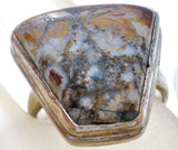 Vintage Moss Agate Ring Size 9 - The Jewelry Lady's Store