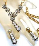 Vintage Necklace & Earrings with Crystal Rondelles - The Jewelry Lady's Store