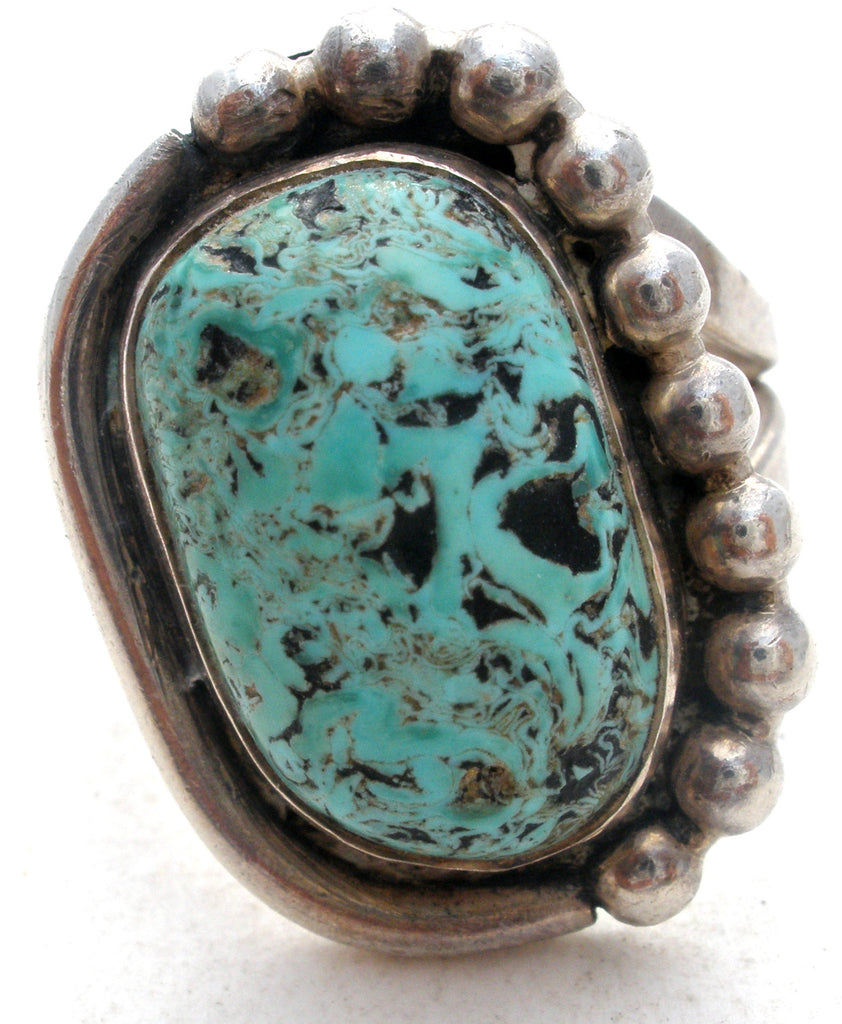 Vintage Turquoise Sterling Silver Ring - The Jewelry Lady's Store - 1