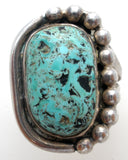 Vintage Turquoise Sterling Silver Ring - The Jewelry Lady's Store - 6