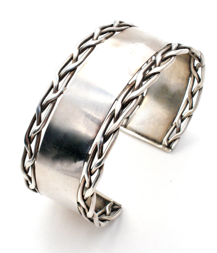 Wide Sterling Silver Cuff Bracelet 925 - The Jewelry Lady's Store
