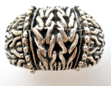 Wide Mexican Braid Ring Sterling Silver - The Jewelry Lady's Store