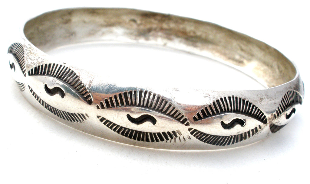 Wilbur Tracy Sterling Silver Bangle Bracelet - The Jewelry Lady's Store