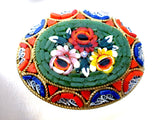 Vintage Italian Mosaic Flower Brooch Glass Pin - The Jewelry Lady's Store