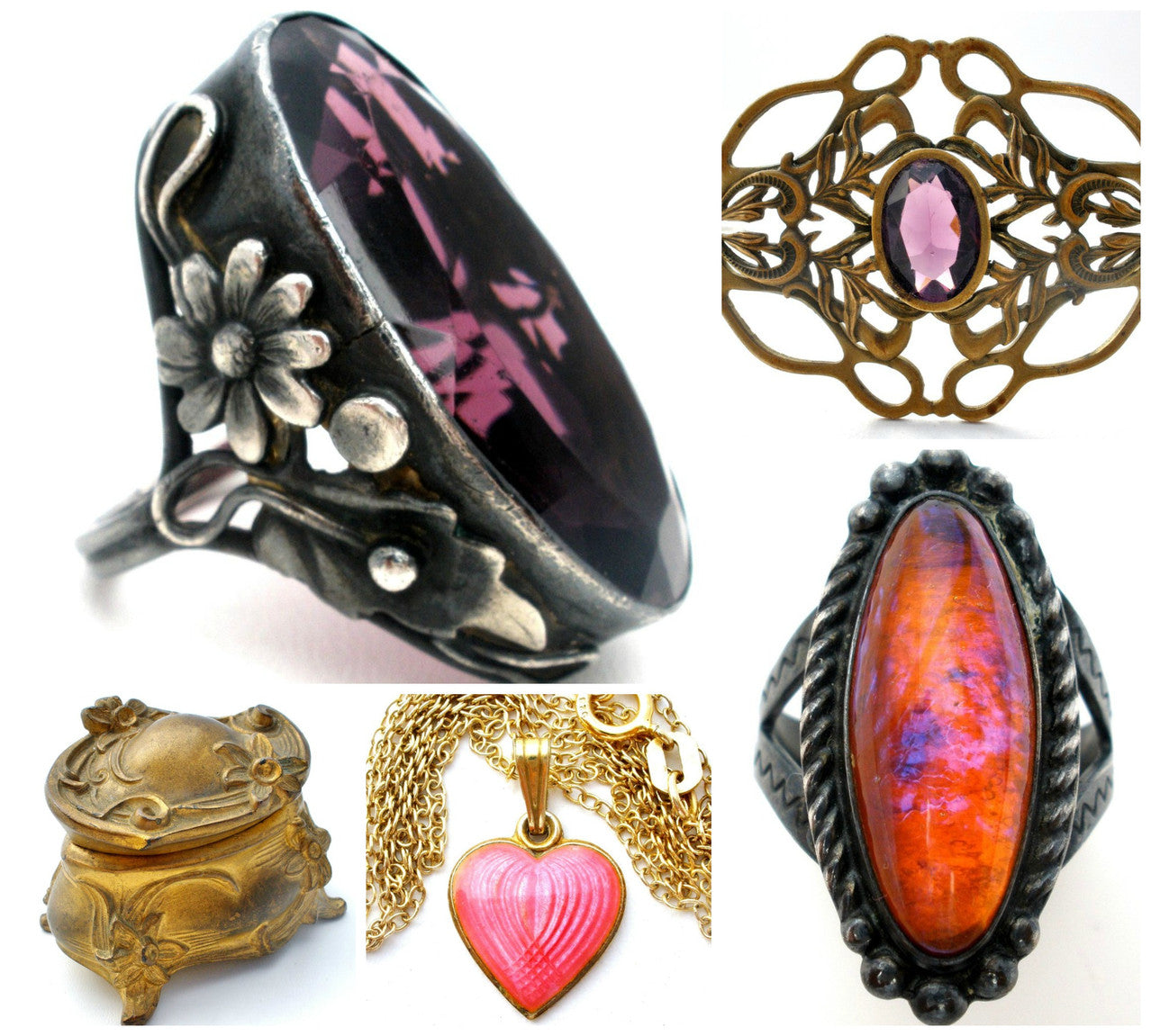 Art deco rings jewelry boxes rings brooches