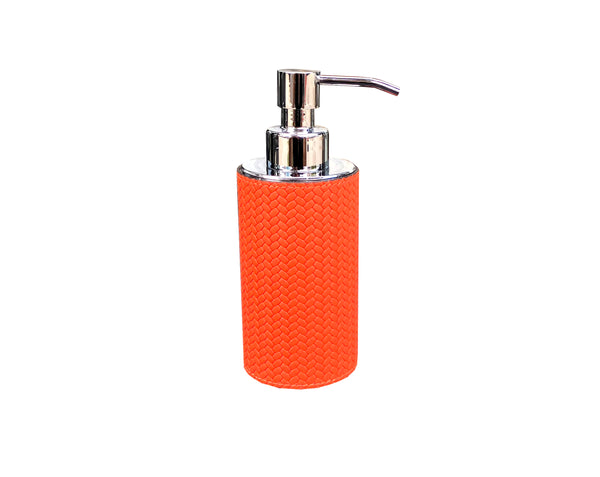 Leather Soap Dispenser - round