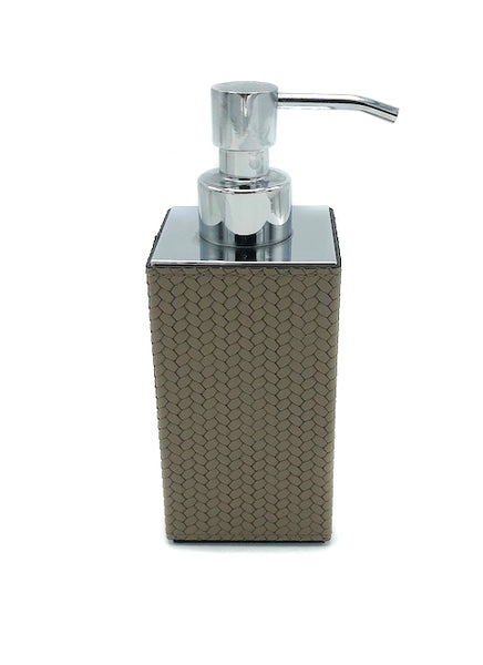 Leather Soap Dispenser - square