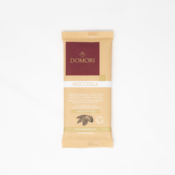 Domori Milk Chocolate With Whole and Roasted Hazelnuts