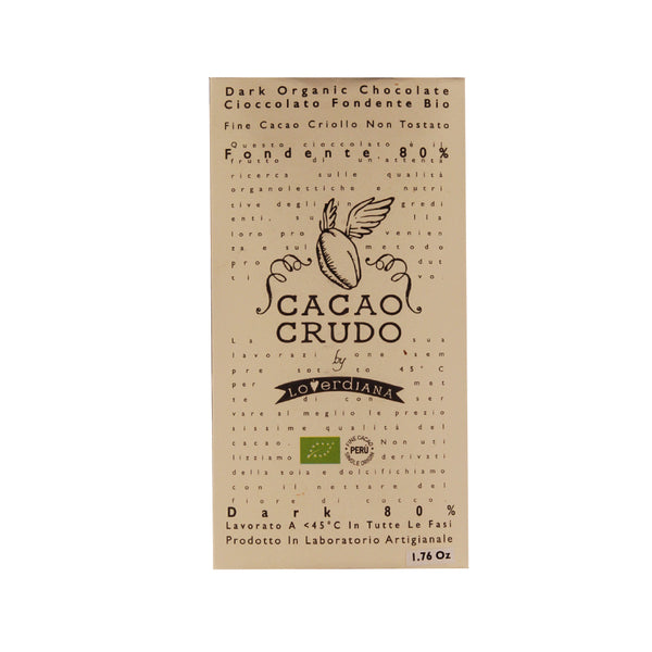 Cacao Crudo 80% Raw Organic Dark Chocolate Bar