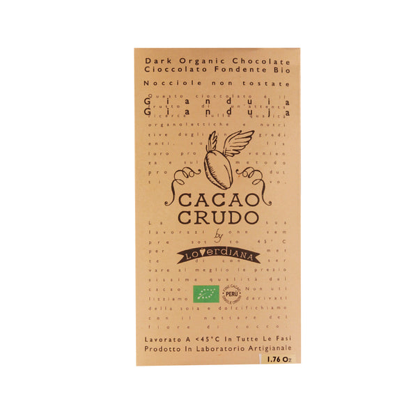 Cacao Crudo Raw Organic Gianduja Chocolate Bar
