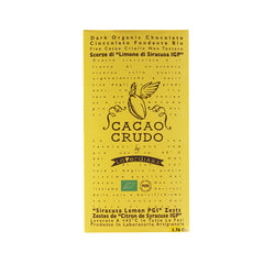 "Cacao Crudo Raw Organic ""Siracusa Lemon PGI"" Dark Chocolate Bar"