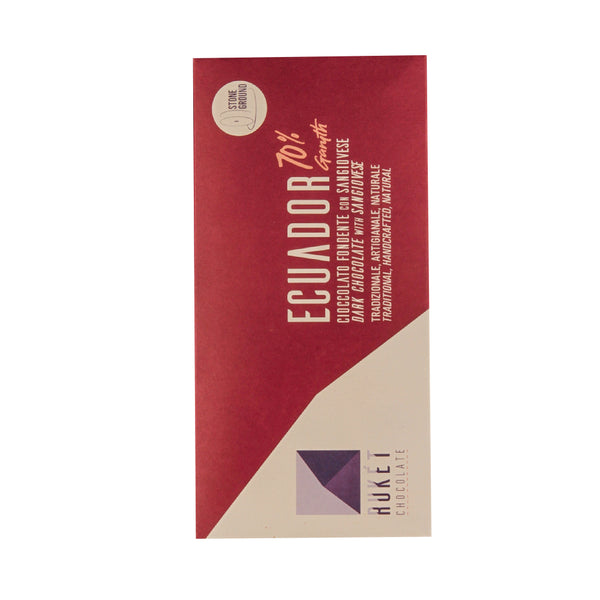 Ruket Ecuador 70% with Sangiovese Dark Chocolate Bar