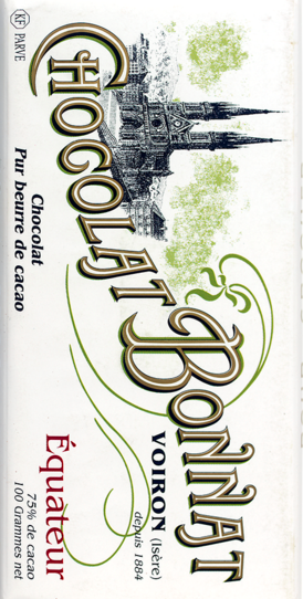 "Bonnat 75% Ecuador ""Equateur"" Dark Chocolate Bar"