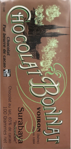 "Bonnat 65% Indonesia ""Surabaya"" Dark Milk Chocolate Bar"