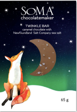 Soma Twinkle Bar - Chocolate Caramel with Newfoundland Sea Salt