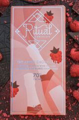 "Ritual ""The Apres"" Sparkling Wine infused and Dried Raspberries 70% Bar"