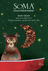 Soma Baby Bear - Dark Chocolate Kampot Peppers, Ginger and Cacao Nibs
