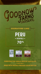 "Goodnow Farms Peru ""Ucayali"" 70% Dark Chocolate"