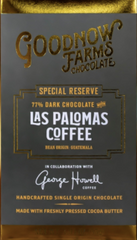 "Goodnow Farms Special Reserve ""Las Palomas Coffee"" 77% Dark Chocolate"
