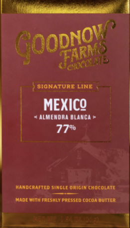 "Goodnow Farms Mexico ""Almendra Blanca"" 77% Dark Chocolate"