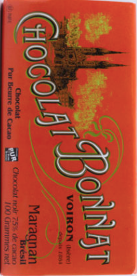 "Bonnat 75% Brésil ""Maragnan"" Dark Chocolate Bar"