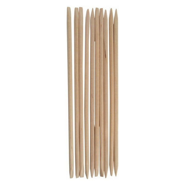 "Wax Applicator - 7"" Orange Wood Stick with Flat Ends, 100 ct"