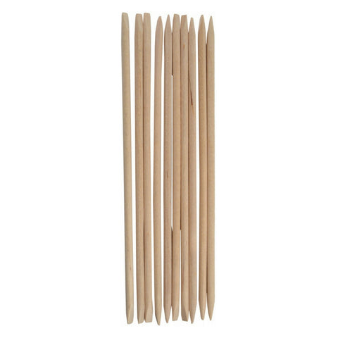 "7"" Orange Wood Wax Applicator Sticks with Flat Ends"