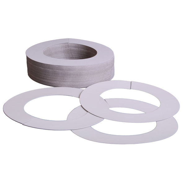 White Paper Wax Collars 100 ct