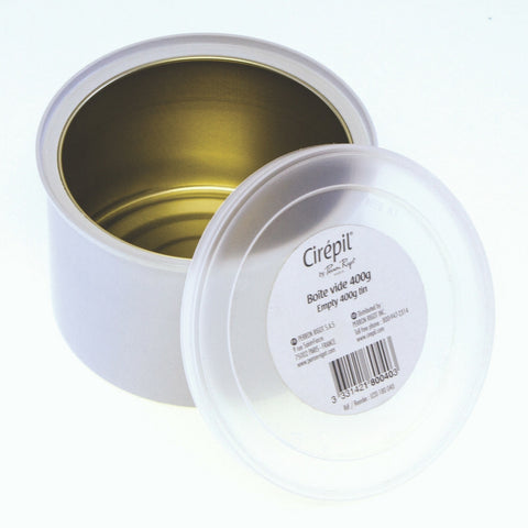 White Empty Cirepil Wax Tin with Lid