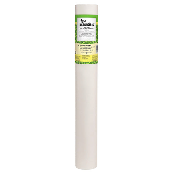 "Spa Essentials Poly-Backed Table Paper 21"" x 125'"