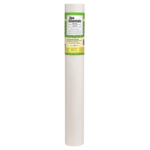 "Spa Essentials Poly-Backed Table Paper, 21"" x 125'"