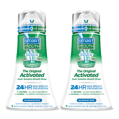 MEGHAN KING SPECIAL OFFER - SmartMouth Original Activated Breath Rinse for 24 Hour Bad Breath Prevention - 2PACK