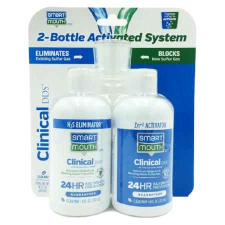 SmartMouth™ Clinical DDS Activated Oral Rinse 2-Bottle System