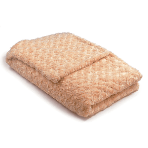 beige soft fabric weighted blanket