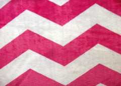Pink Chevron Minky - Magic Weighted Blanket