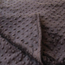 Load image into Gallery viewer, Chocolate Minky Dot Magic Weighted Blanket - Magic Weighted Blanket