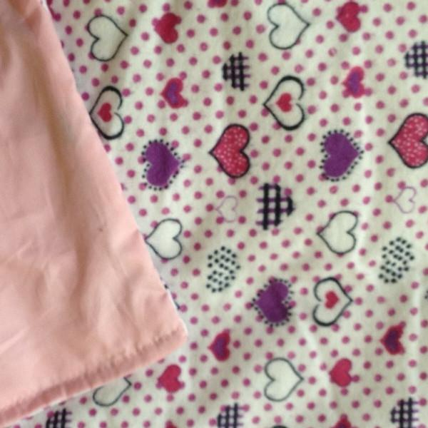 Hearts Flannel / Pink Cotton - Magic Weighted Blanket