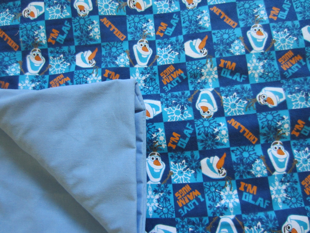 Olaf Flannel / Blue Cotton - Magic Weighted Blanket