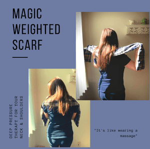 Magic Weighted Scarf (6 x 54 - 3 lb) - Magic Weighted Blanket (Made in USA)