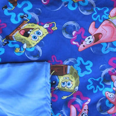 Sponge Bob Cotton / Blue Cotton - Magic Weighted Blanket