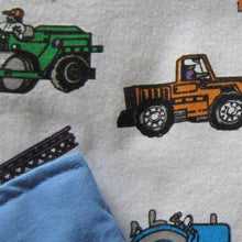 Load image into Gallery viewer, Trucks Flannel / Blue Cotton Magic Weighted Blanket - Magic Weighted Blanket