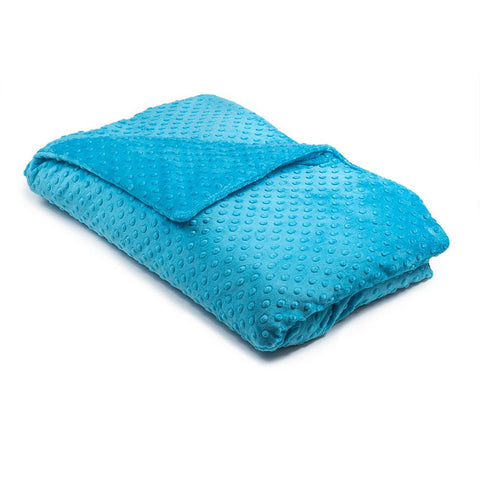 Turquoise Minky Dot Magic Weighted Blanket