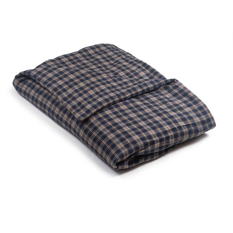 Blue & Tan Plaid Flannel Magic Weighted Blanket
