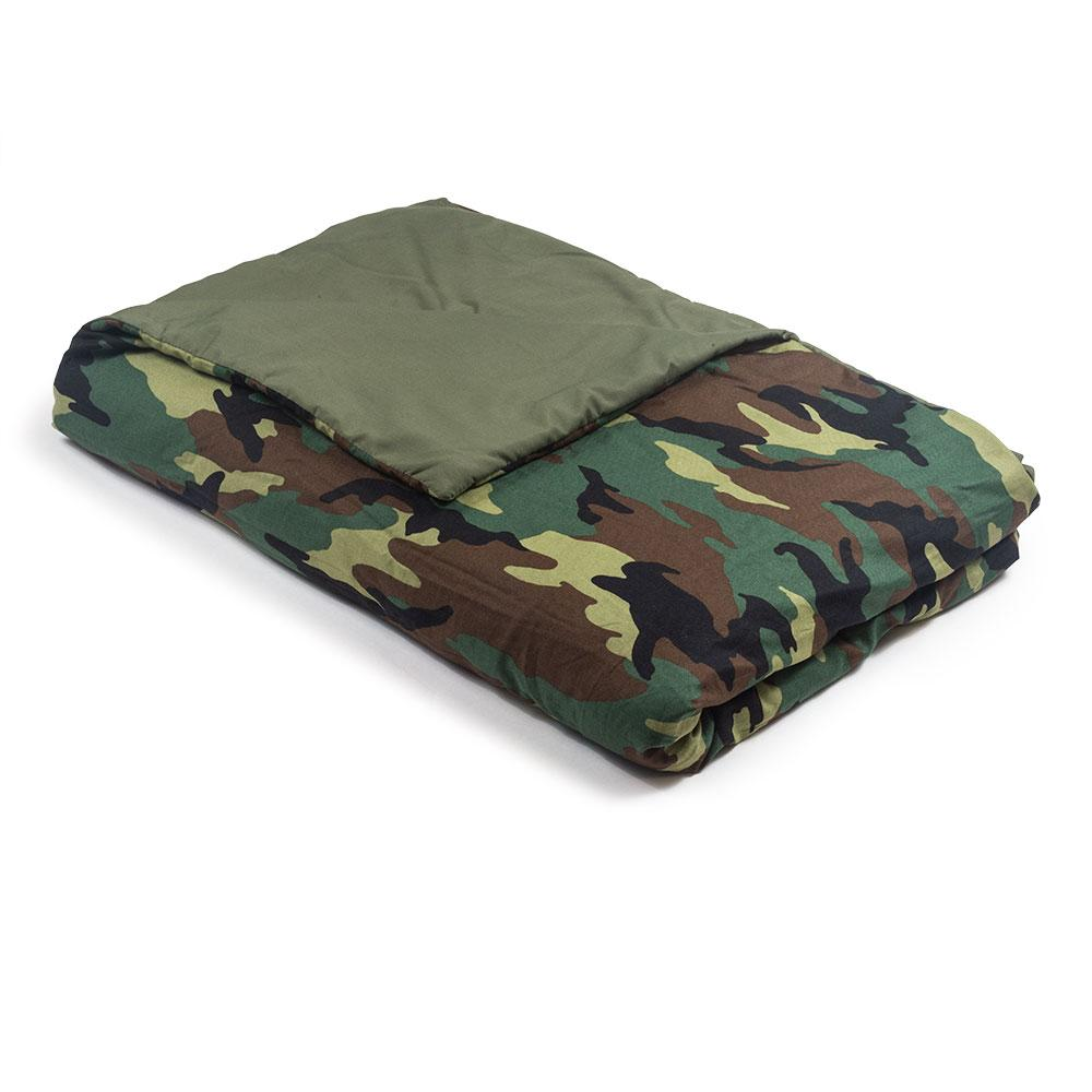 Camouflage Cotton / Olive Cotton Magic Weighted Blanket - Magic Weighted Blanket
